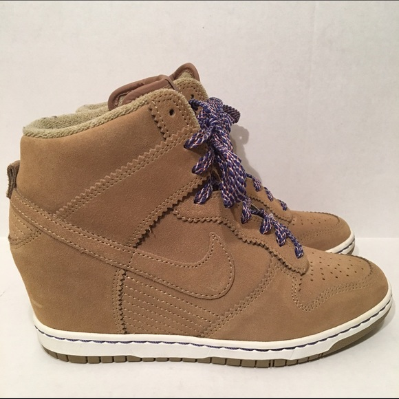 Nike Dunk Wedges Bamboo Suede Size 8