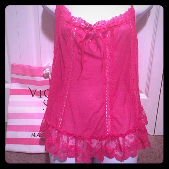 Teddies Victorias Secret Sexy Little Things Lingerie Teddy Nightgown Pink Size Small 6 8