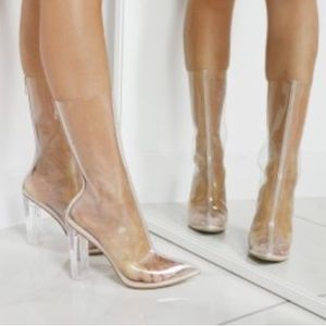 Shoes - Clear Perspex ankle booties