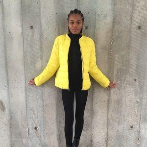 Jackets & Blazers - Yellow puffer coat