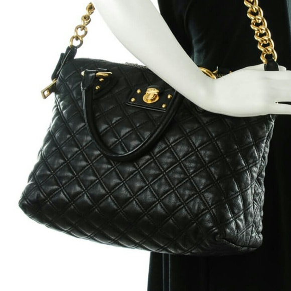 92% off Marc Jacobs Handbags - MARC JACOBS Lambskin Quilted ... : marc jacobs black quilted bag - Adamdwight.com