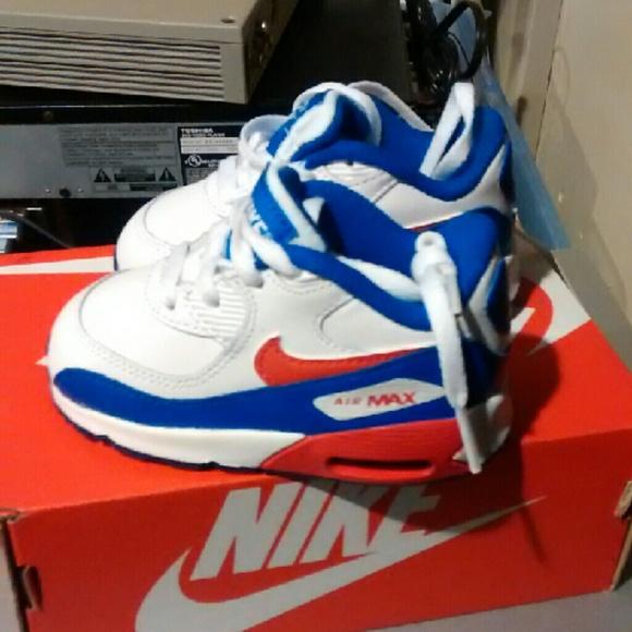 5dfaf77fd1 Nike Shoes   Toddlers White Blue Air Max 90   Poshmark