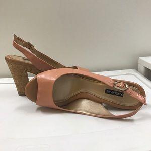 Alex Marie Shoes - Alex Marie Peep Toe Salmon Pink Heels Sz 8
