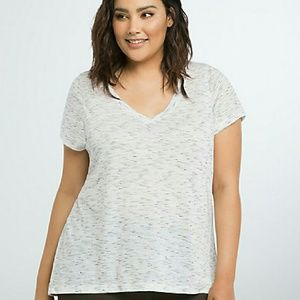 Torrid Speckled v neck tee