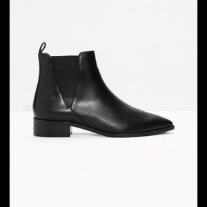 Shoes - &Other Stories Leather  Chelsea Boots
