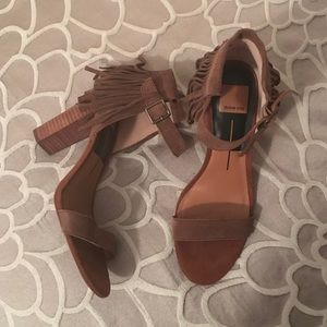 Dolce Vita Shoes - Brown Suede Fringe Sandals