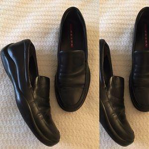Prada Shoes - Prada Black Leather Loafers