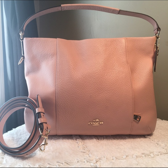 aa309df83db Coach Isabelle East West Rose Blush Pebble Leather