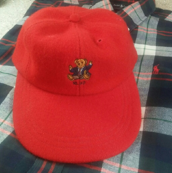42224ebf310 Vintage RL Polo Bear Hat. M 58193b27522b457e090334a8. Other Accessories you  may like. POLO RALPH LAUREN COTTON CHINO ...