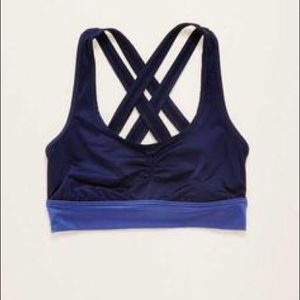 aerie Other - NWT Aerie Shine Sports bra navy sz small crossback