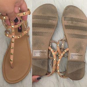 f123975aa7c6 Betsey Johnson Shoes - SALE !! Betseyville nude studded gladiator sandals