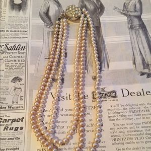 Vintage Jewelry - •VTG• Sarah Coventry Three Strand Pearl Necklace