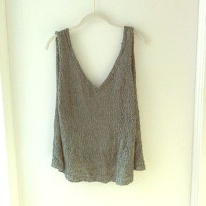 Tops - Knit green Backless Tank