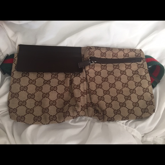 2361a23bfc609a Bags | Used Authentic Gucci Gg Canvas Belt Bagfanny Pack | Poshmark
