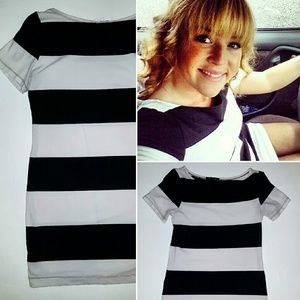 Forever 21 black and white shirt-dress, sz M.