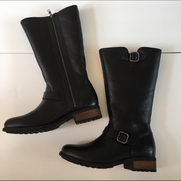 2b8623dab21 NEW UGG CHANCERY TALL LEATHER BOOT NWT