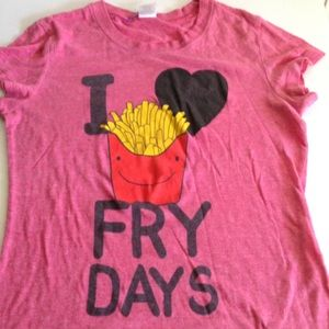 Vintage 90's 🍟I LOVE FRY DAYS Tee Shirt