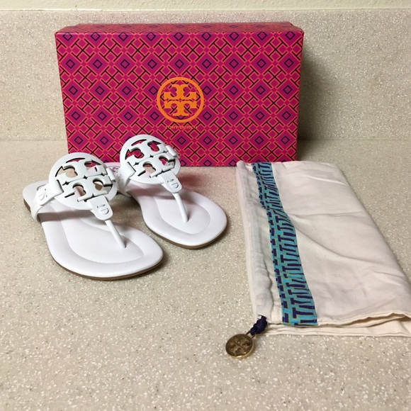 Tory Burch 'Miller 2' Sandal in White Size 5