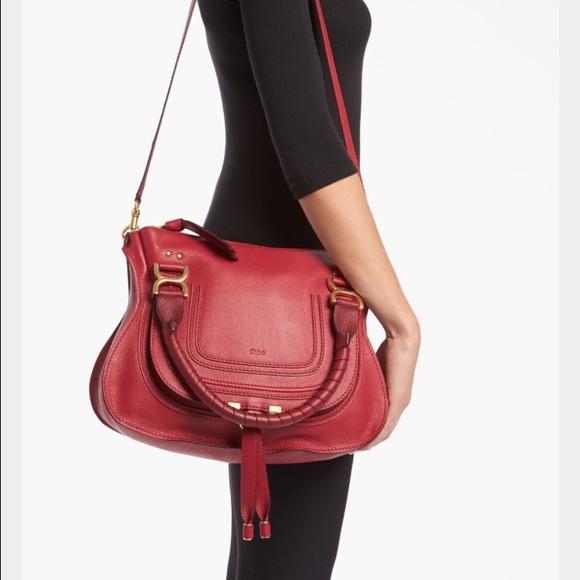 72c674c50a3 Chloe Bags | New Marcie Medium Red Satchel | Poshmark