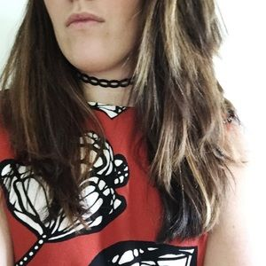 Jewelry - NWT    Black Thin Circle Lace Choker Necklace