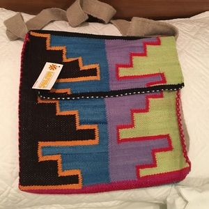 Handbags - Peruvian hand woven cross body bag