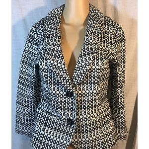 Cabi black/white blazer style # 298