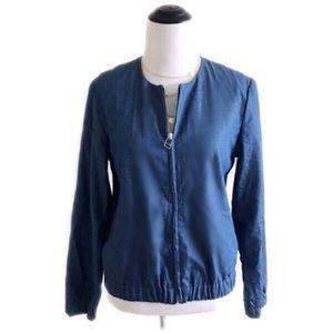 GAP Jackets & Blazers - GAP zip up blue denim color jacket