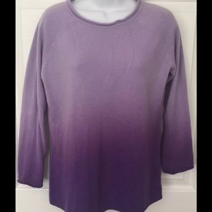 Mimi Maternity Soft Purple Ombré Sweater Sz Medium