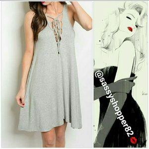 Dresses & Skirts - 💋NEW💋Lace up neckline tank top style dress