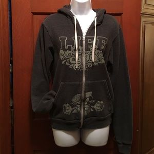 American Apparel gray zip up hoodie