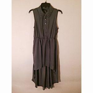Ali & Kris Dresses & Skirts - Ali & Kris Stud Collar High Low Dress