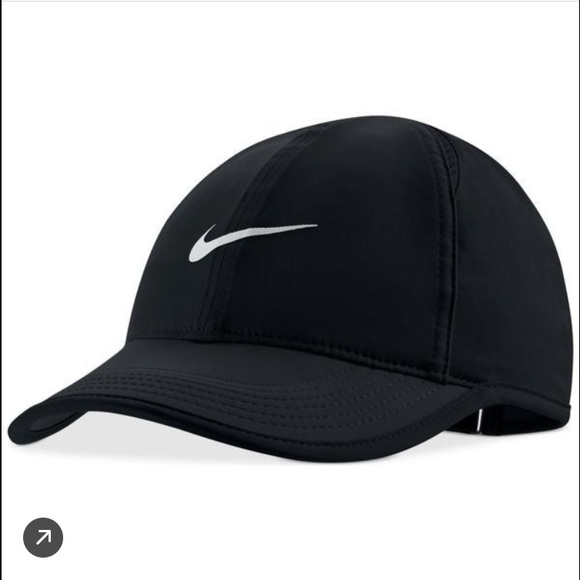 375cc529084 Nike Featherlight Tennis Cap Hat Dri Fit Black. M 58196c3a6802784da604196a