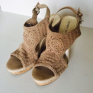 039f385bf1a7 Audrey Brooke Shoes - Audrey Brooke Winston Macrame Wedge Sandal Crochet
