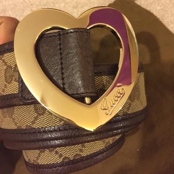 4f01100f7 Gucci Accessories | Authentic Heart Buckle Belt | Poshmark