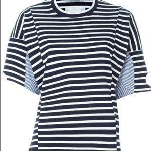 Sacai Tops - Sacai striped T-shirt