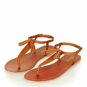 Topshop Shoes - NWT Topshop Brown Tassel Sandals