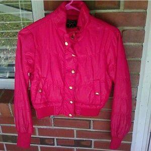Red unisex jacket size S