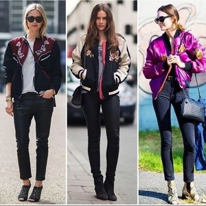 Une Fille Peacock Bomber jacket