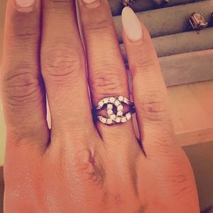 CHANEL Jewelry - 💎 Chanel Sterling Silver 9.25 CZ Ring