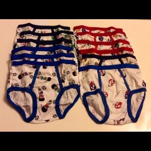 Other - 12 Boy's Underwear Briefs 3T -NEW