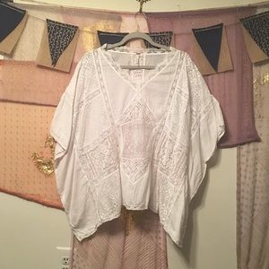 🌻FIRM🌻 Free People Lace Poncho/Tunic Size M/L