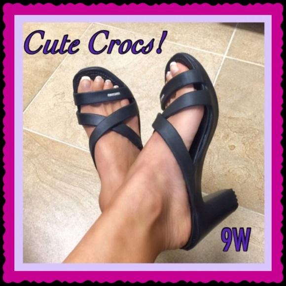faa6a39487 CROCS Shoes | Black Cyprus Iv Heels | Poshmark