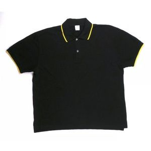 Sunspel Other - SUNSPEL England Black Cotton Yellow Trim Polo XL