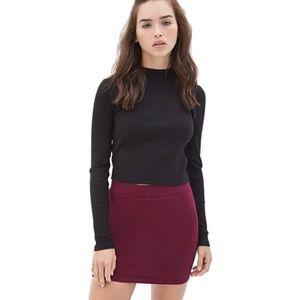 F21 Purple Bodycon Skirt