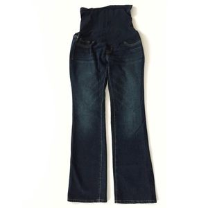 Indigo Blue maternity bootcut dark wash jeans