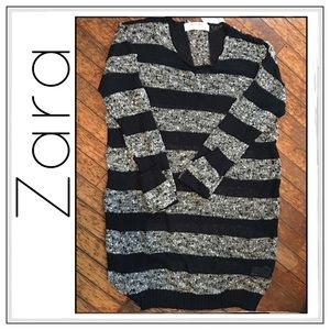 Zara Sheer Knit Striped Tunic/Dress