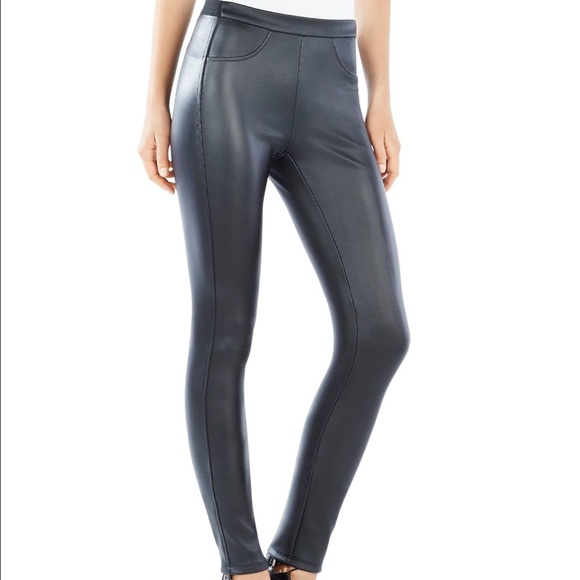 48e4405f839fc BCBGMaxAzria Pants | Womens Black Faux Leather Leggings | Poshmark