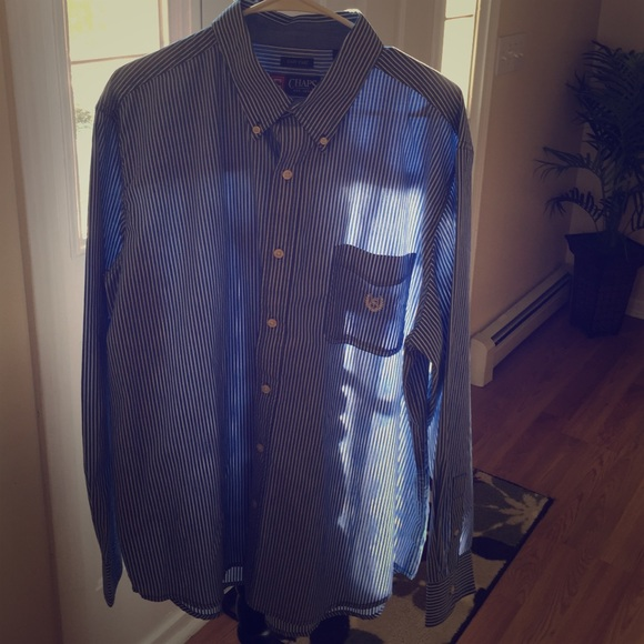 64 Off Chaps Other Men 39 S Chaps Blue And White Button Up