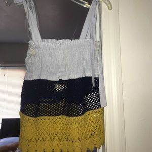 Zara tricolor babydoll shirt