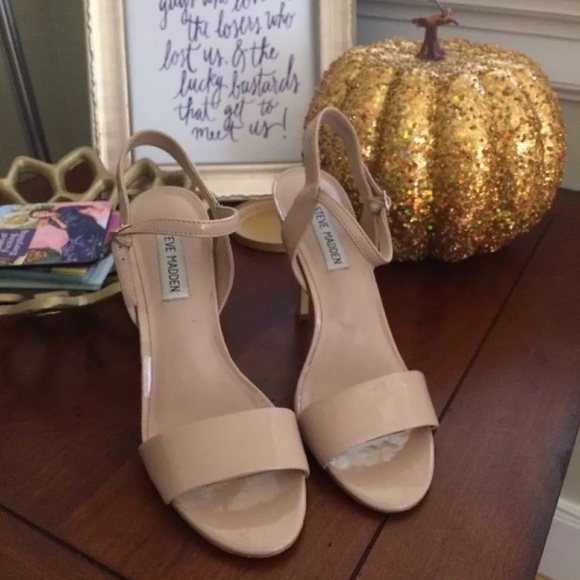 84% off Steve Madden Shoes - Steve Madden Nude Heels Size 7 from ...